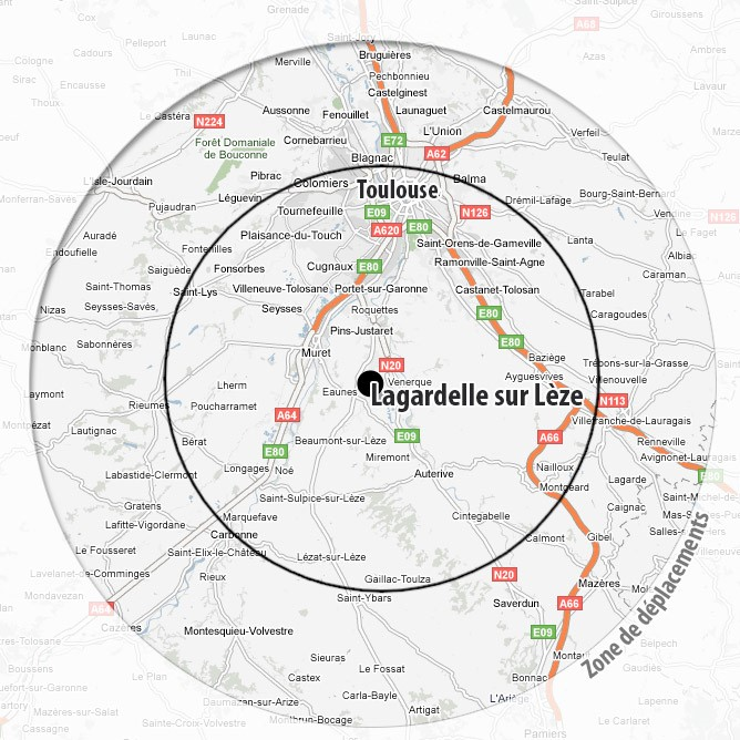EquiWay ZONE DE DEPLACEMENT cercle noir